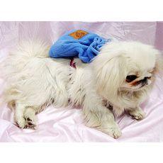 Rucksack für Hunde mit Geschirr - blau