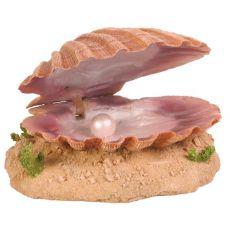Aquarium Dekoration - Muschel mit Perle