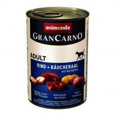 Dose GranCarno Fleisch Adult Räucheraal + Kartoffeln - 400g