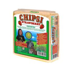 CHIPSI STRAWBERRY - Heimtierstreu mit Erdbeerenaroma 15 L