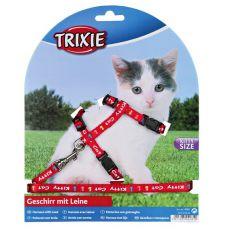 Geschirr mit Leine für Kätzchen Kitty Cat, rot