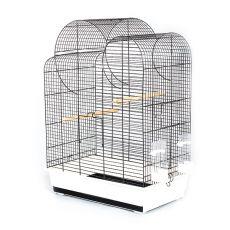Käfig für Papageien ELIZA - schwarz - 54 x 34 x 75 cm