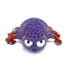 Latexspielzeug für Hunde - violette Spinne