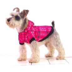 Jacke für Hunde - mit Karomuster, pink, XL