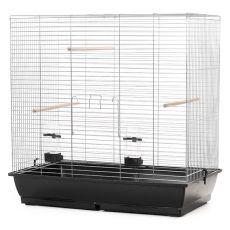 Käfig für große Papageien GONZO chrom - 78 x 47,5 x 79 cm