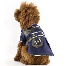 Jeansjacke für Hunde mit Futter, XL
