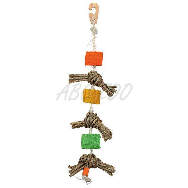 Spielzeug für vögel seil mit sisalknoten abc zoo