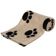 Decke für Hunde oder Katzen - beige mit Pfote, 150 x 100 cm