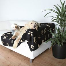 Decke für Hunde oder Katzen - beige Pfote, 150 x 100 cm