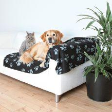 Hundedecke / Katzendecke - graue Pfote, 150 x 100 cm