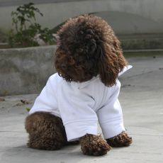 Hundejacke mit Reißverschluss - weiß, M