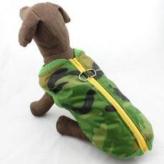 Jacke für große Hunde - Camouflage, elastisch, L-XL