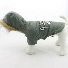 Kapuzenjacke für Hunde - olivgrün, XXL