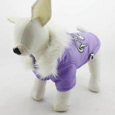 Kapuzenjacke für Hunde - lila, L