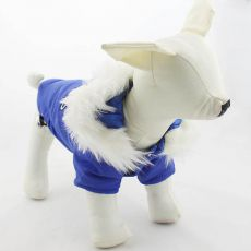 Kapuzenjacke für Hunde - blau, M