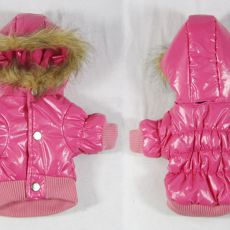 Hundejacke - pink mit Kapuze, XL