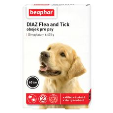 Anti-Zecken-Floh Halsband für Hunde DIAZ - 65 cm