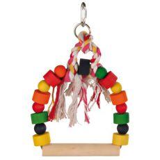 Spielzeug für Vögel - farbige Schaukel mit Seil, 20x29 cm