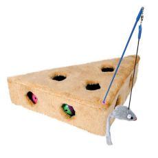 Spielzeug für Katzen - Plüschdreieck mit Mäuschen