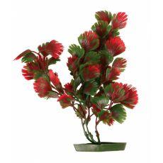 Aquariumpflanze aus Kunststoff - rotgrüne Blätter, 28 cm