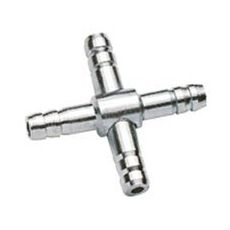 Kreuzförmiger Verteiler für Lüftungsschlauch 4/6mm