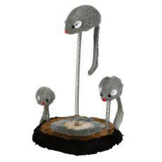 Spielzeug für Katzen - Mäuse mit Sprungfeder, 15x22cm