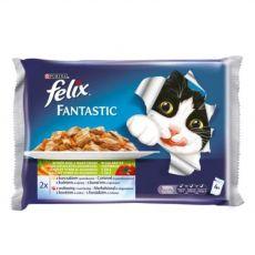 Stückchen für Katzen FELIX - Fische mit Gemüse in Gelee, 400 g