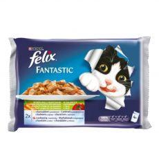 Stückchen für Katzen FELIX - Fleisch mit Gemüse in Gelee, 400 g