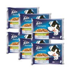 Stückchen für Katzen FELIX - Fleisch mit Gemüse, 6 x 400 g