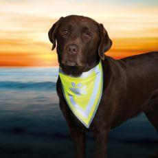 Reflektierendes Halstuch für Hunde mit Muster - Größe S-M