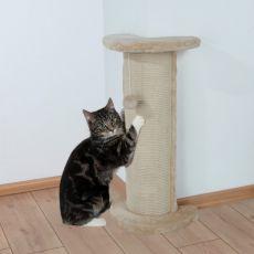 Schrappersäule für Katze, eckig mit dem Spielzeug - 75cm
