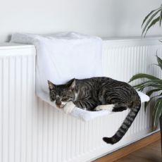 Radiator Katzenbett, weißer Plüsch - 45x24x31