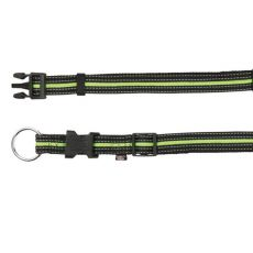Nylon Hundehalsband - grünschwarz, M-L