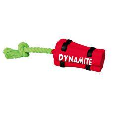 Latex Hundespielzeug - Dynamitstange mit Seil, 22cm