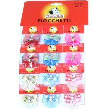 Hundeschleifen mit Steinchen - mehrere Farben, 24St.
