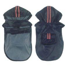 Hunde Regenjacke - dunkelblau mit Tasche, S