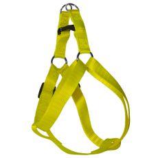 Geschirr für den Hund - neon-gelb, 1,6 x 30-45 cm