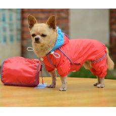 Regenmantel für Hunde in der Tasche - rosa, XS
