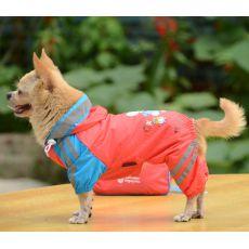 Regenmantel für Hunde, Motiv Mädchen - pink, XL