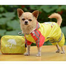 Regenmantel für Hunde, Motiv Mädchen - gelb, S