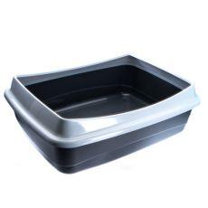 Toilette für Katzen - grau - 54,5 x 40 x 18 cm