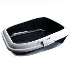 Toilette für Katzen MODERNA - schwarz - 56 x 43,5 x 19 cm