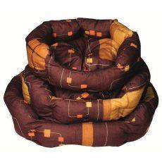 Schlafplatz für Hunde - oval, braun, 45x35x20 cm