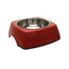 Futternapf DOG FANTASY für Hunde eckig - 0,70L, rot