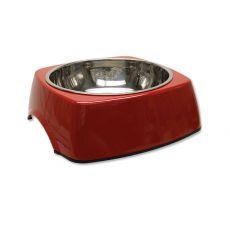 DOG FANTASY Hundenapf eckig - 1,40L, rot