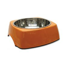 DOG FANTASY Fressnapf eckig - 1,40L, orange