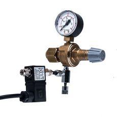 """Druckminderer CO2 - W21,8x1/14""""+ Nadelventil und elektromagn. Ventil"""
