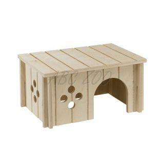 Häuschen für mittelgroße Nager, Holz - 26x17,3x13cm