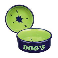 "Keramik Hundenapf mit Aufschrift ""Dogs"" - 0,5l"