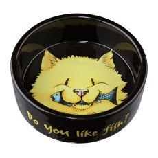 Fressnapf für Katzen aus Keramik, schwarz - 0,3l